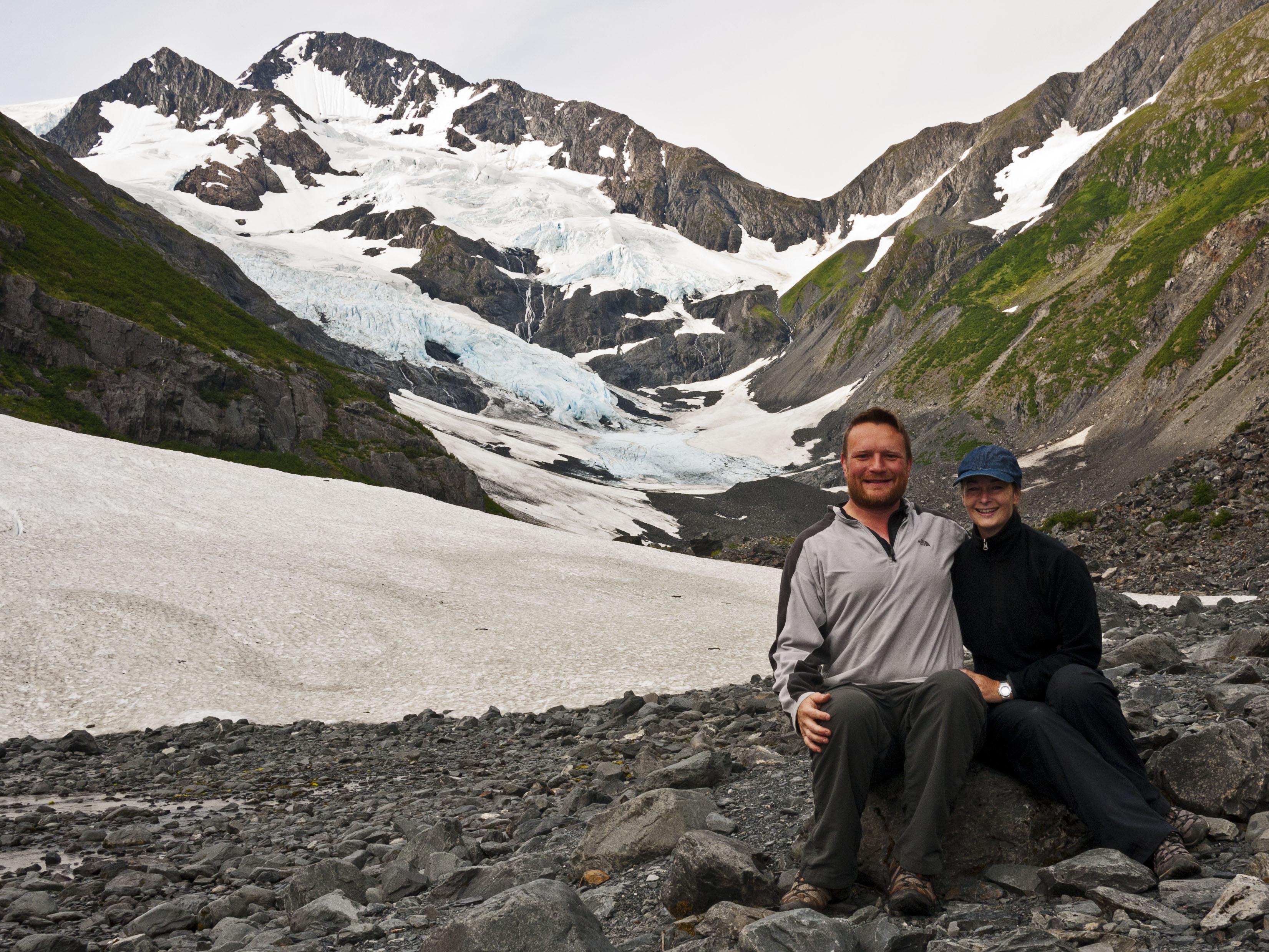Portage Glacier Then Now
