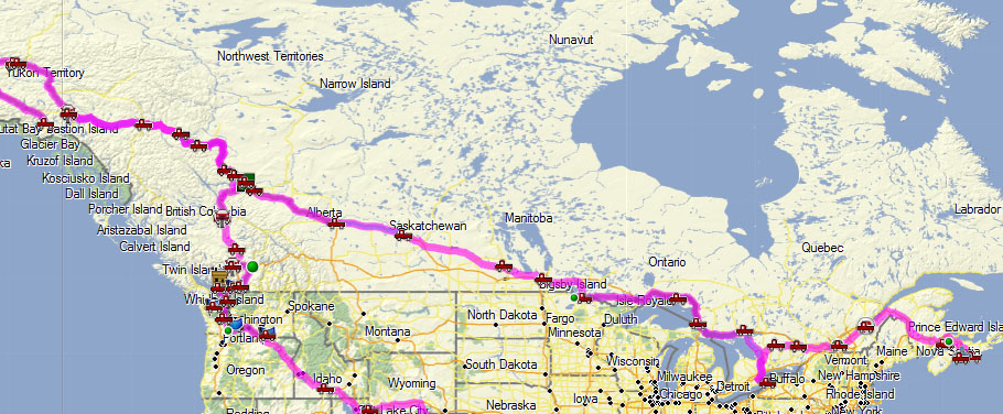 The Route | fromalaskatozil on canada history map, canada immigration map, canada fishing map, canada weather map, canada europe map, canada new york map, canada language map, canada road map, canada china map, canada regional map, canada transportation map, canada casino map, canada food map, canada mountains map, canada usa map, canada united states map, canada government map, canada snow map, canada airport map, canada economy map,