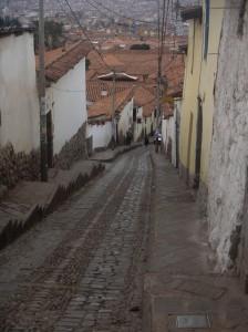 Narrow and steep roads in  Cusco