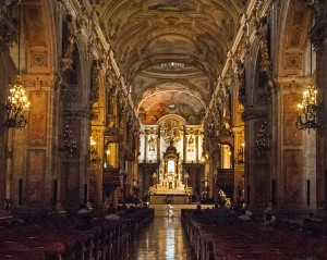 Inside Santiago Cathedral