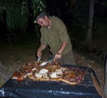 Jared carving themeat