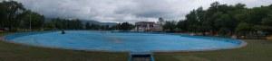 Municipal campground swimming pool