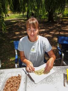 Sarah Making Empanadas