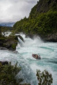 Boat at Petruhue Falls