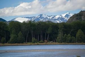 Campsite view from Villa ohiggins