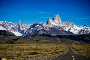 El Chalten mountains from Road