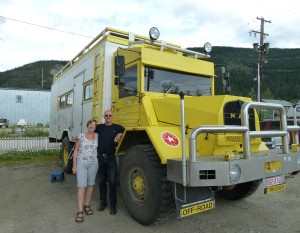 Frans and Martine with their truck