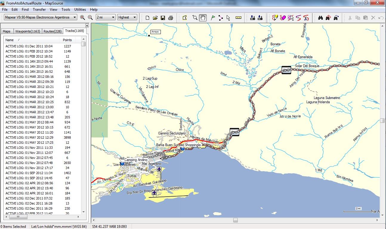mapsource. gps mapping in latin america  fromalaskatobrazil