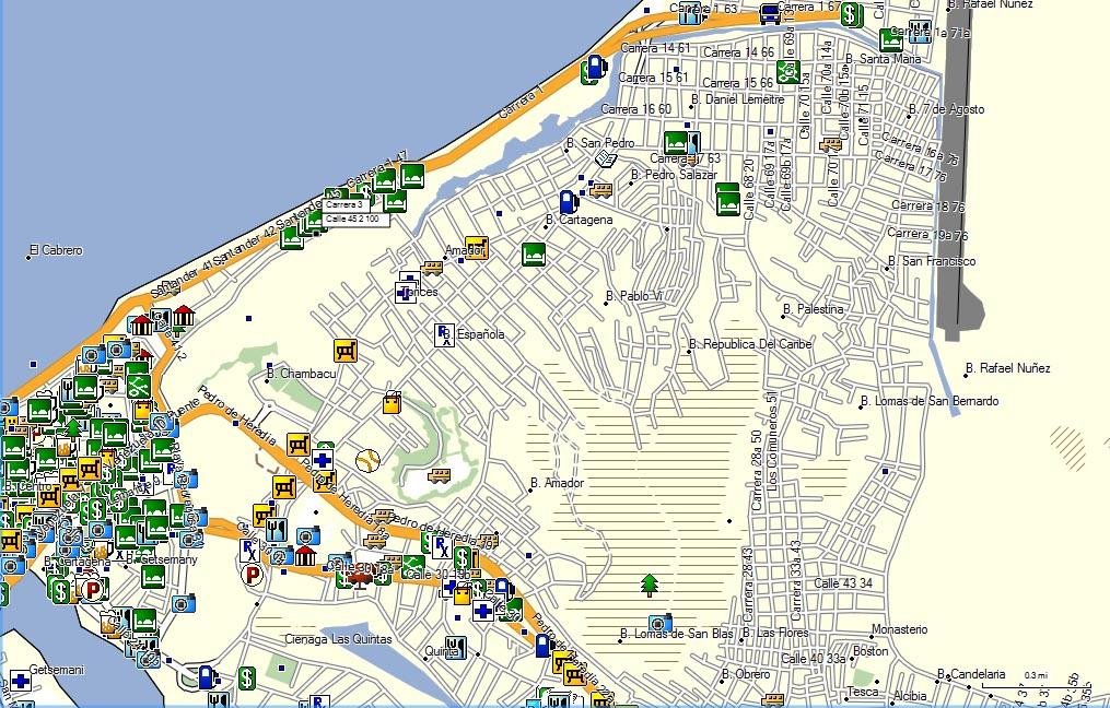 Calles de santiago de chile mapa for Mapa de santiago de chile