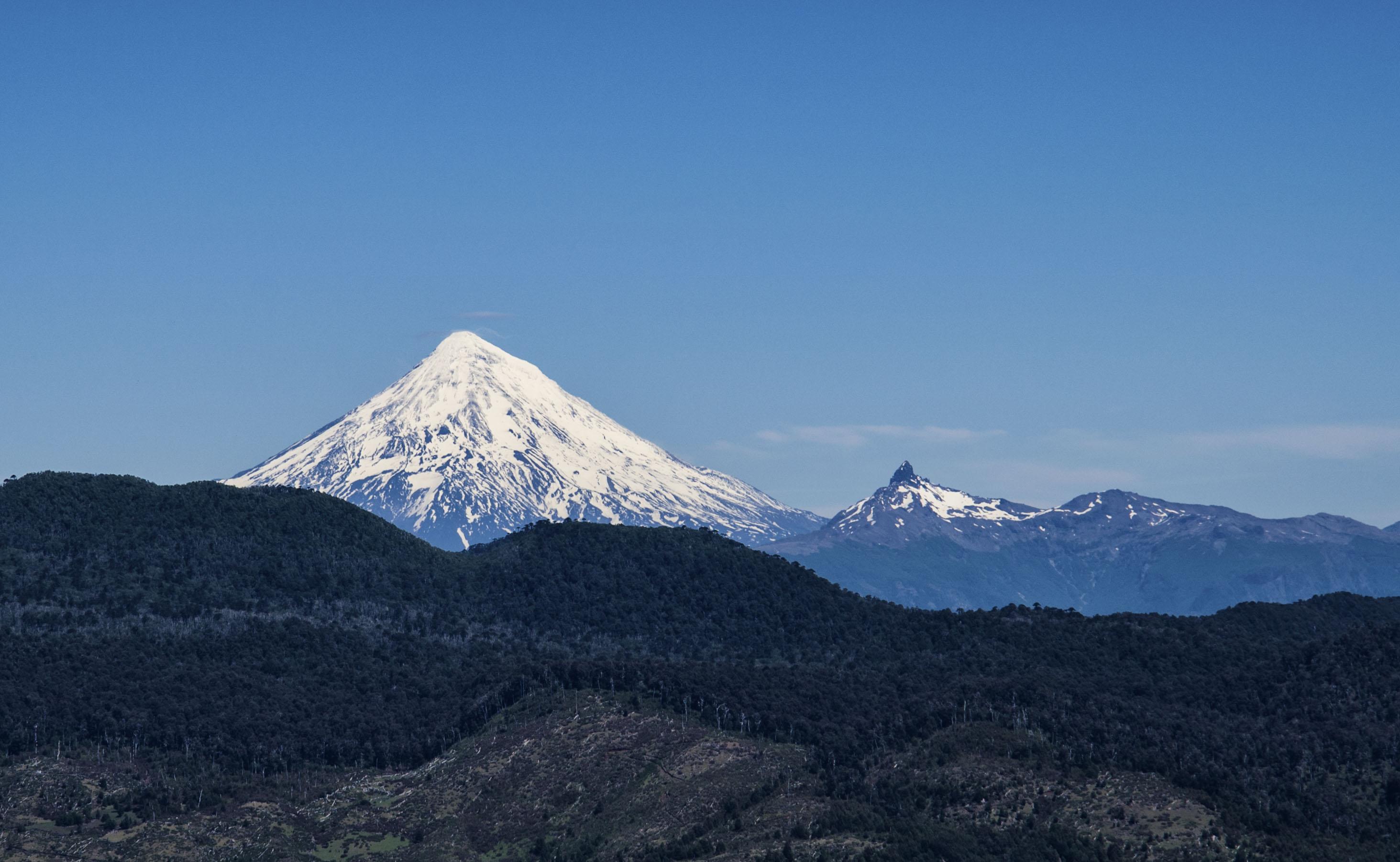 Volcano From hill top   fromalaskatobrazil