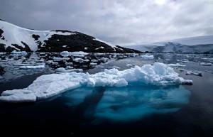Underwater ice