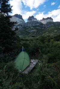 Camping at Los Cuernos