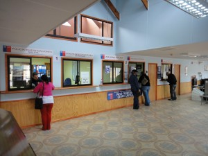 Inside chile border building