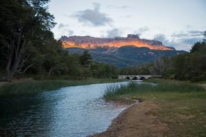 Campsite view in Nahuel-Huapi NP