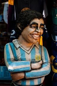 Diego Maradona Statue in La Boca