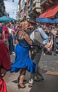 Old Couple dancing in Plaza Durango
