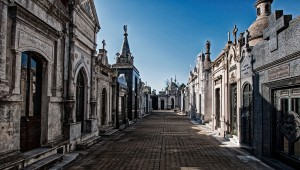 Street in Recoleta Cemetary