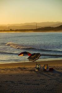 Umbrellas on the sand