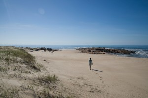 On the beach at Punta del Diablo