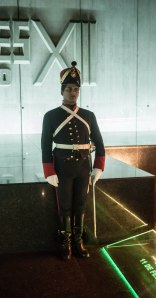 Guard in Artigas tomb
