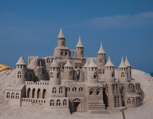 Sand Castle on Copacabana Beach